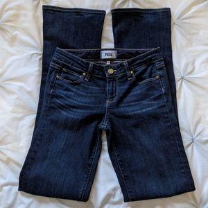 PAIGE   manhattan dark low rise bootcut jeans